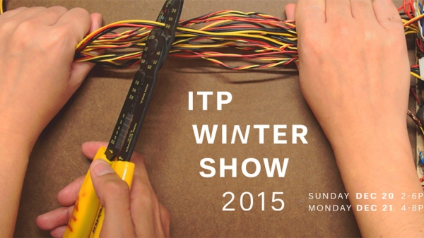 ITP Winter Show Image of two hands cutting wire