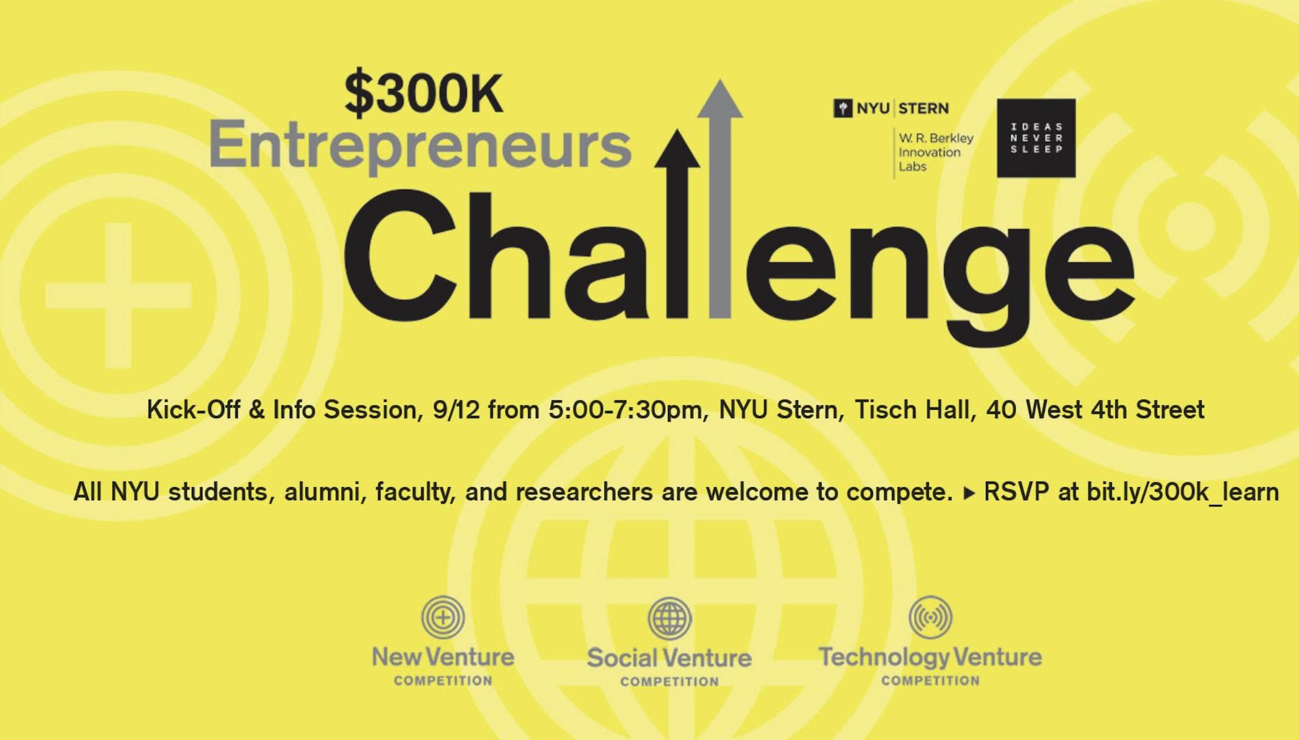 300k Entrepreneurs Challenge Info Session