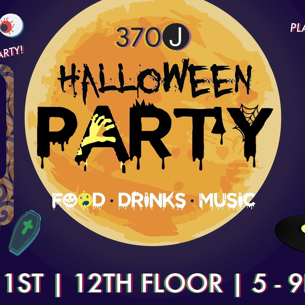 Image of poster for Halloween party.