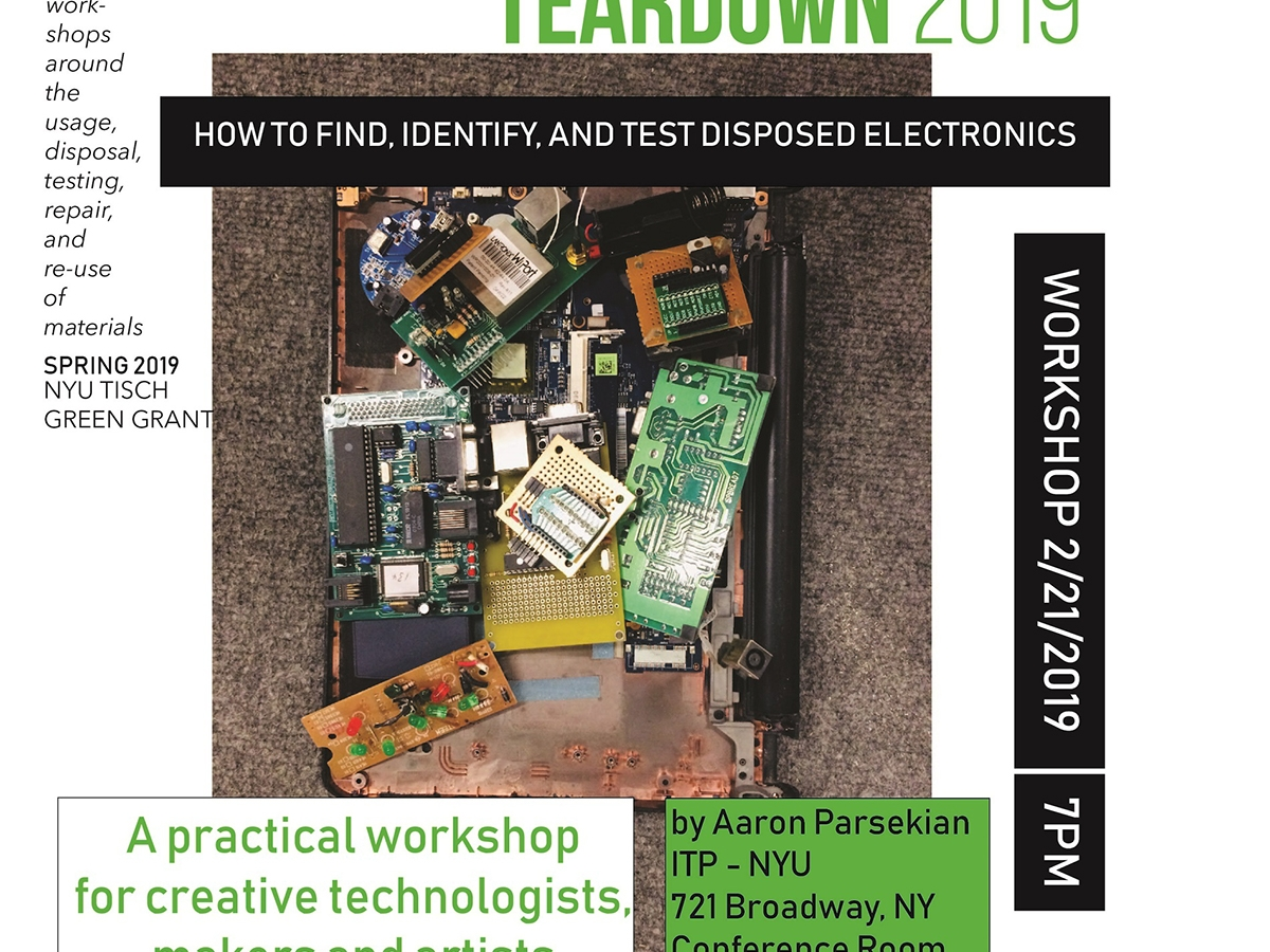 Image of poster for teardown workshop one.