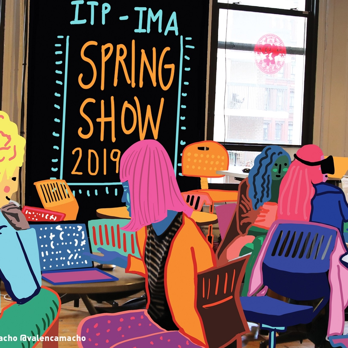Image of ITP Spring Show 2019 poster.