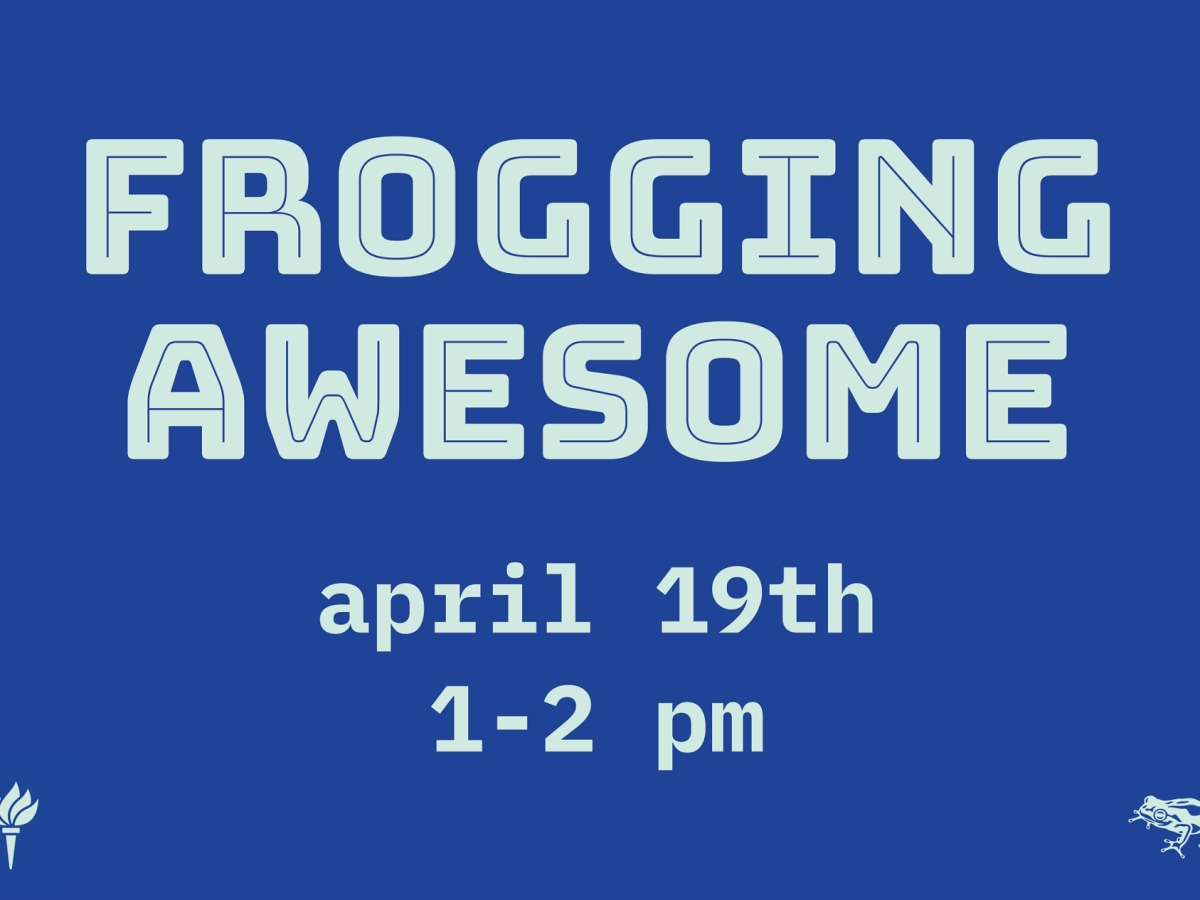 Image of poster advertising Frog Design event.