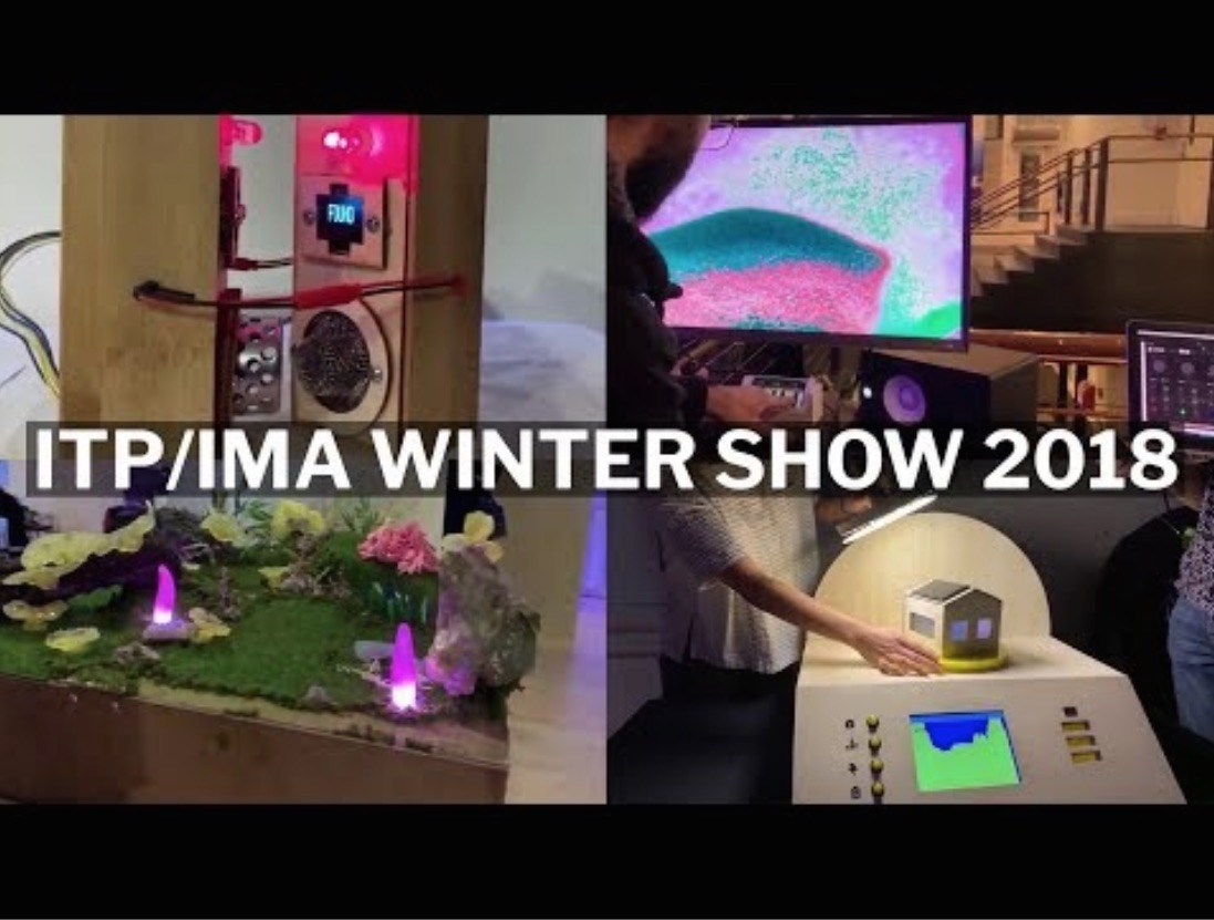 collage of projects from the winter show