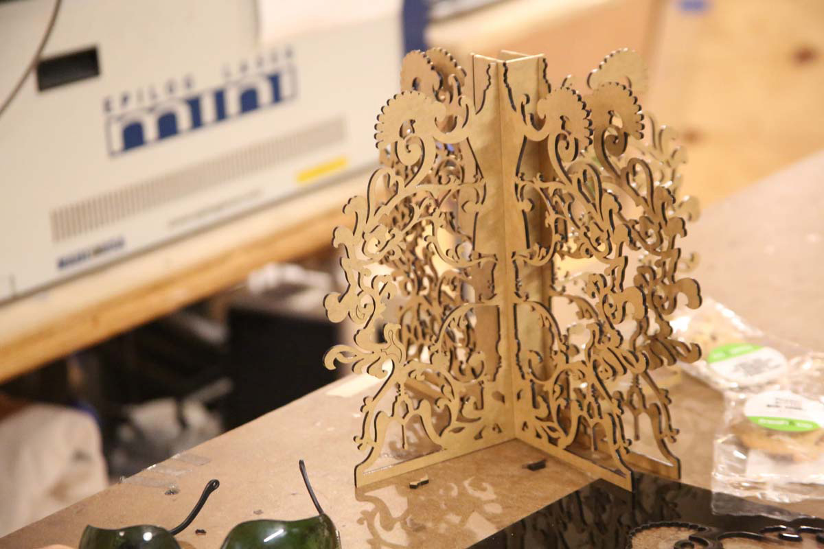 a very ornate laser cut object