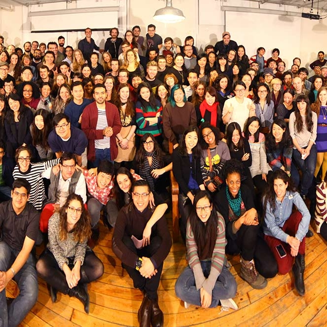 All students together for group photo