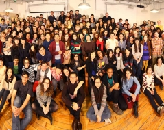 Winter 2013 panorama photo of ITP students