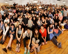 Spring 2013 panorama photo of ITP students