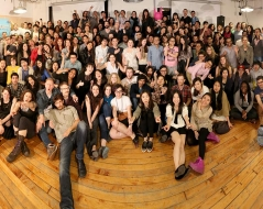 Spring 2014 panorama photo of ITP students