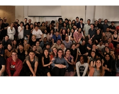 Spring 2017 panorama photo of ITP students