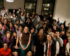 Winter 2002 panorama photo of ITP students