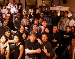 Winter 2003 panorama photo of ITP students