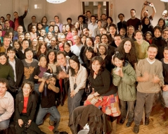 Winter 2005 panorama photo of ITP students