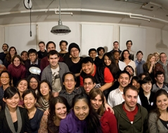 Winter 2017 panorama photo of ITP students