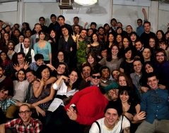 Winter 2010 panorama photo of ITP students