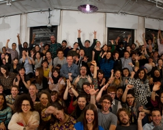 Fall 2011 panorama photo of ITP students