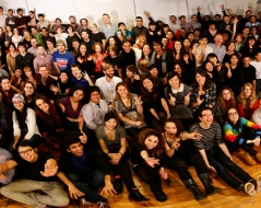 Winter 2012 panorama photo of ITP students