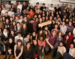 Winter 2014 panorama photo of ITP students