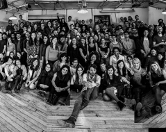 Winter 2015 panorama photo of ITP students