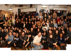 Winter 2016 panorama photo of ITP students