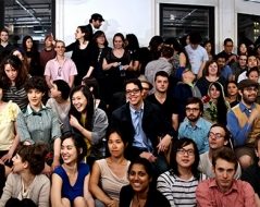 Spring 2012 panorama photo of ITP students