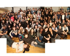 Spring 2016 panorama photo of ITP students