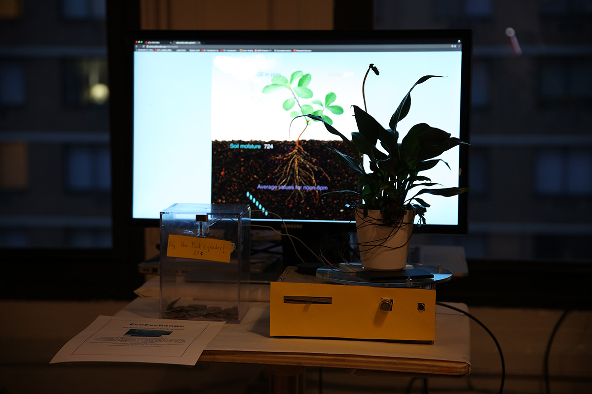 a live plant with a an image of a plant and roots on the monitor