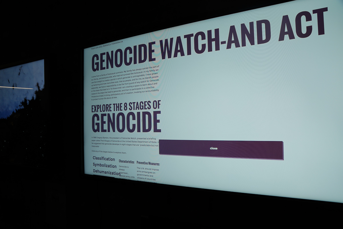 monitor for project about Genocide