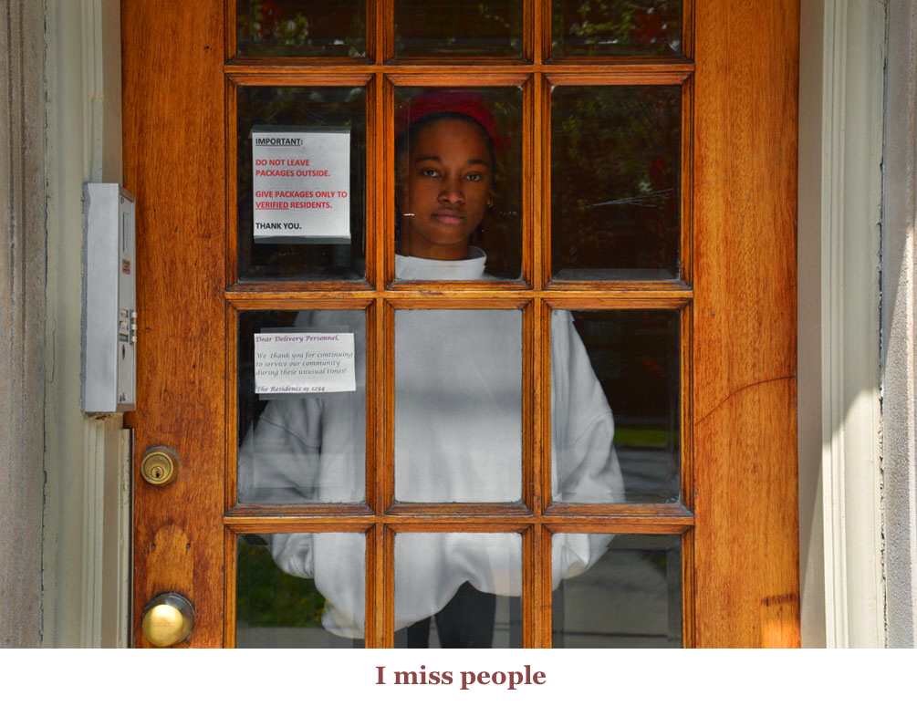 photo of person at door