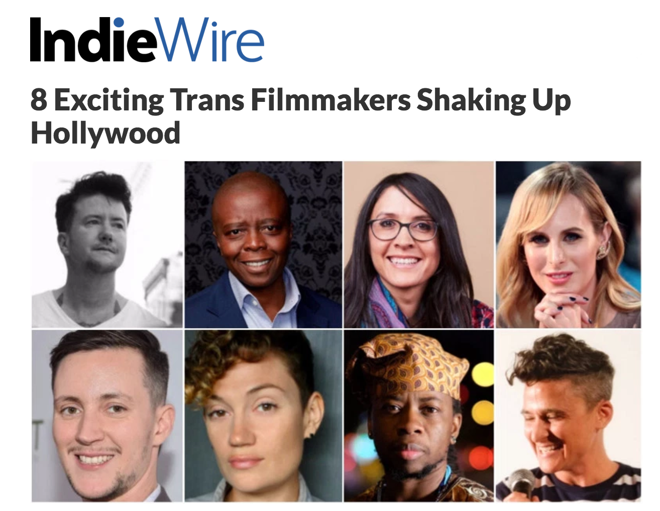 "IndieWire names Seyi Adebanjo One of ""8 Exciting Trans Filmmakers Shaking Up Hollywood"""