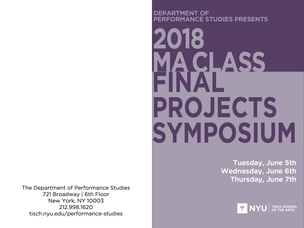 2018 M.A. Final Projects Symposium