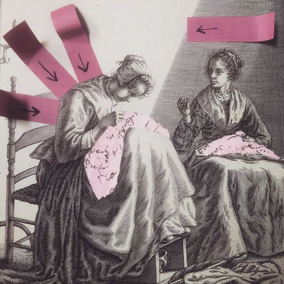 Women sewing