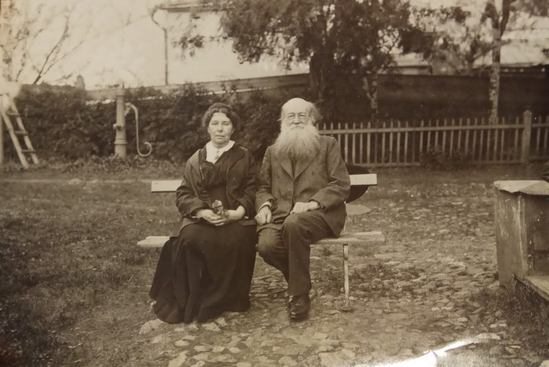 black and white photo of couple outside