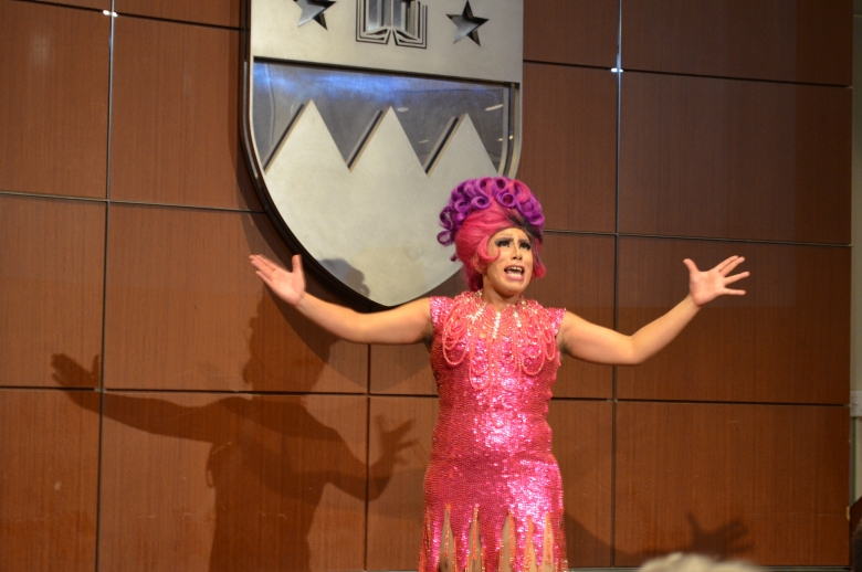 Lady Quesa'Dilla performing at the 4th annual Jose Esteban Munoz Lecture