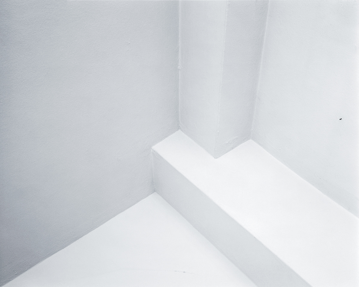 photo of white painted corner architectural