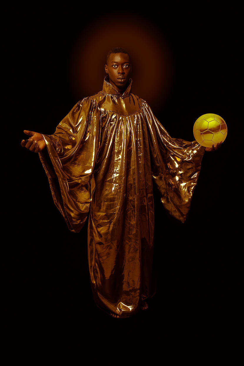 portrait of omar victor diop portraying saint benedict the moor