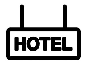 Clip art of a hotel sign