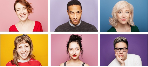 A grid of professional headshots promoting our fundraiser
