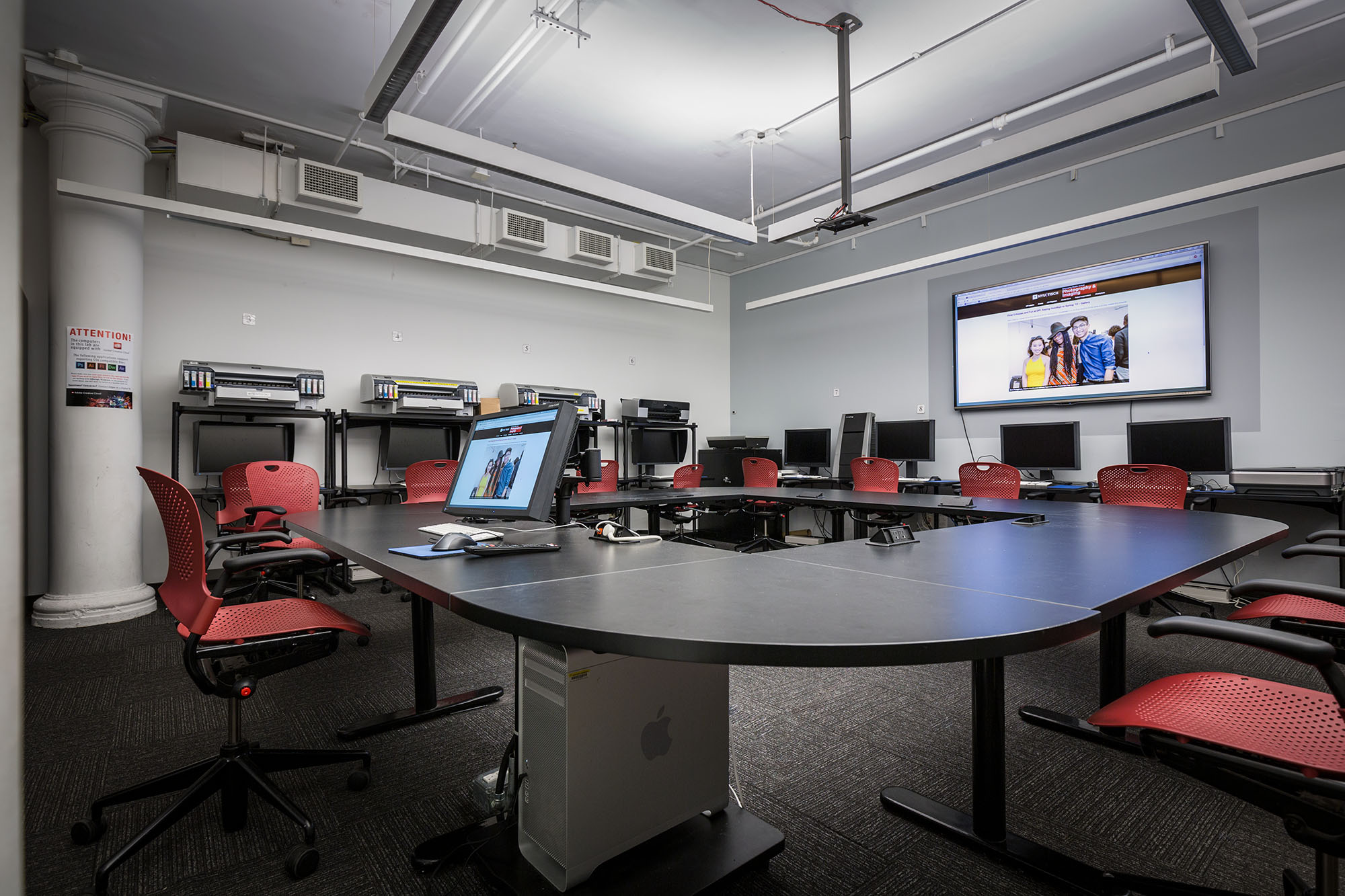 Department facilities for Nyu tisch design