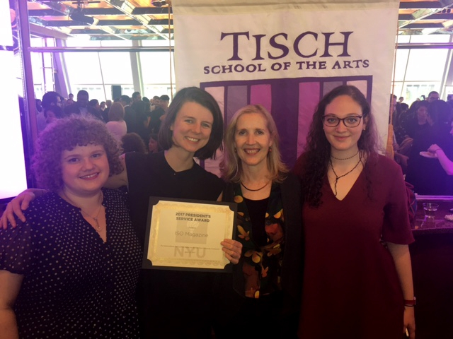 ISO Magazine editors and Tisch Dean Alyson Green
