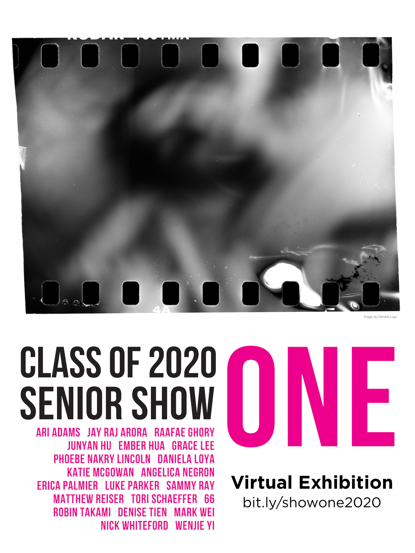 info poster for exhibition virtual gallery