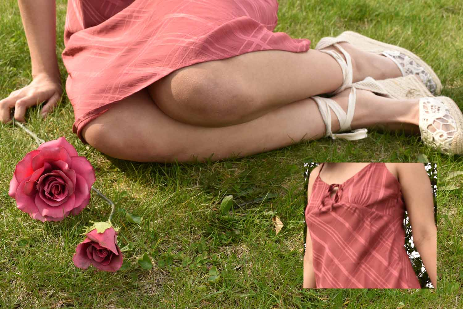woman in pink on grass