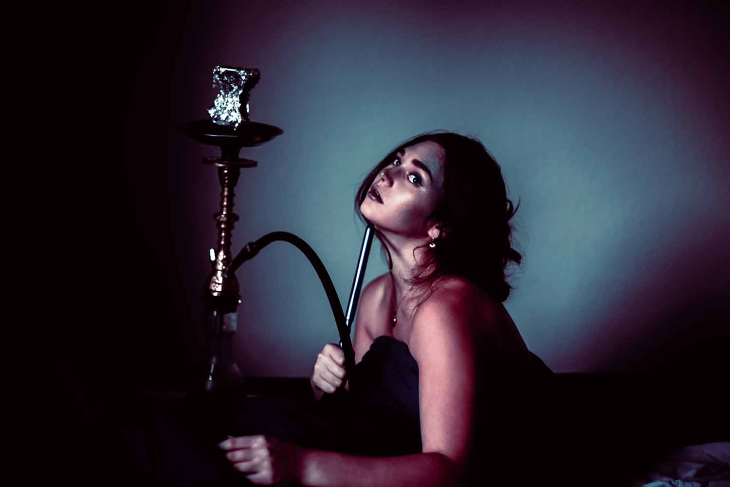 woman and hookah