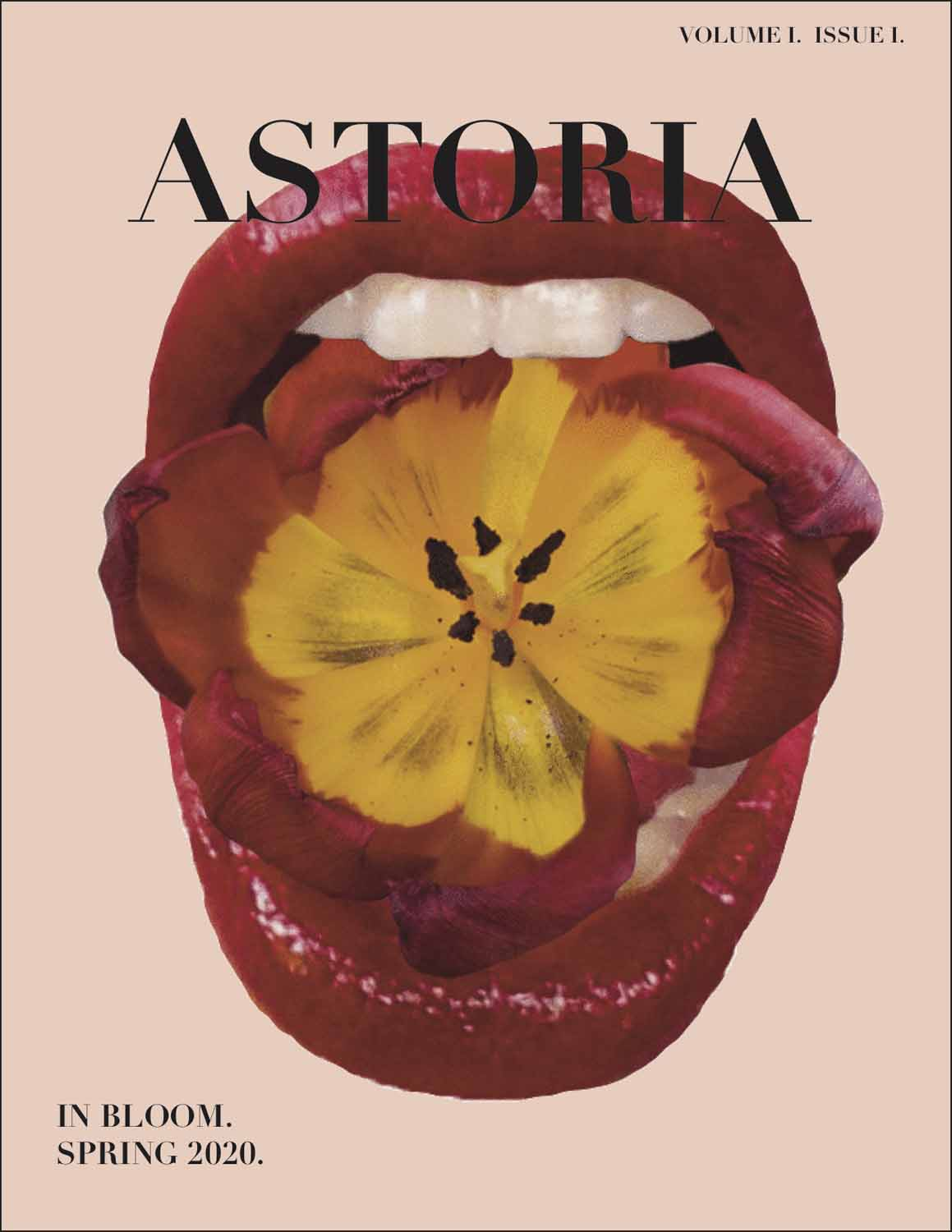 floral magazine cover reading astoria