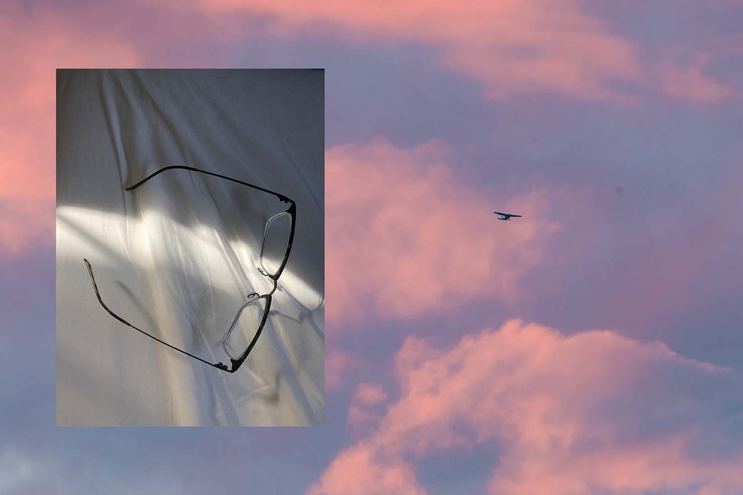 glasses and sky