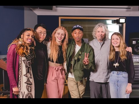 Pharrell Williams Hosts a Master Class at the Clive Davis Institute of Recorded Music