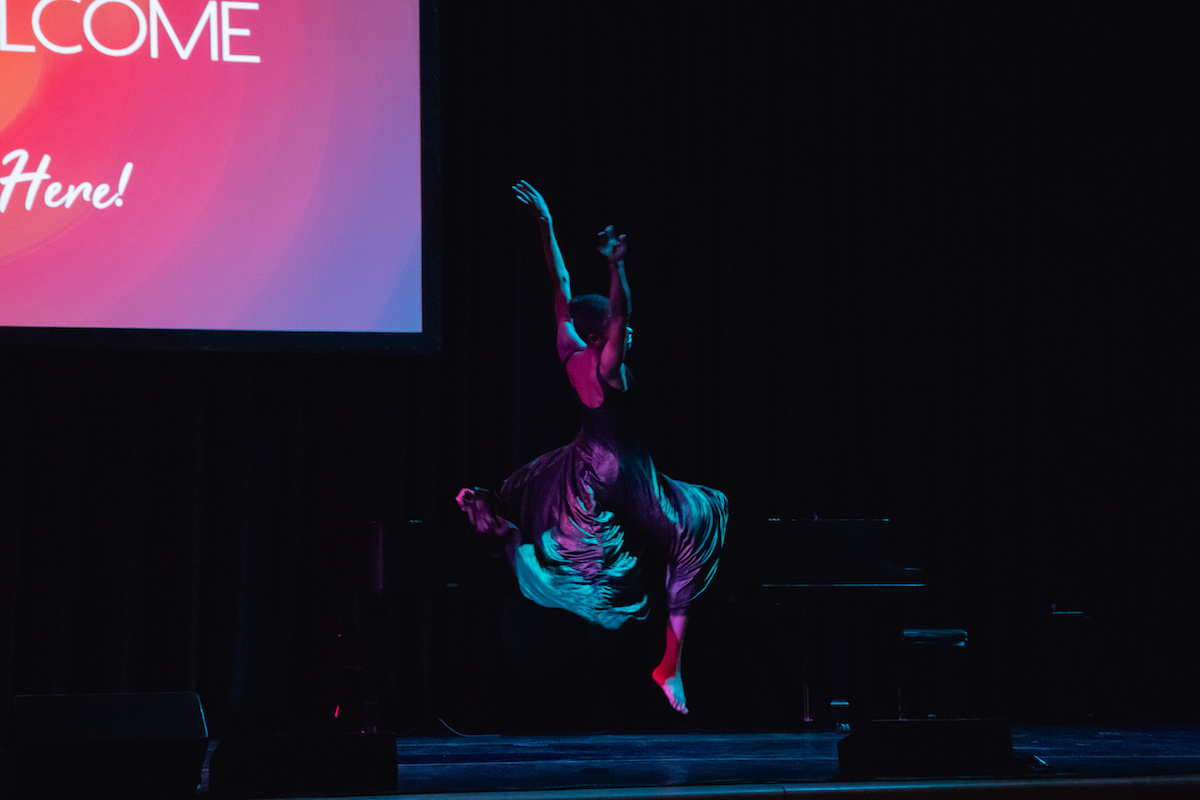 Dancer Kristen Foote wows students at Dean's Welcome 2018