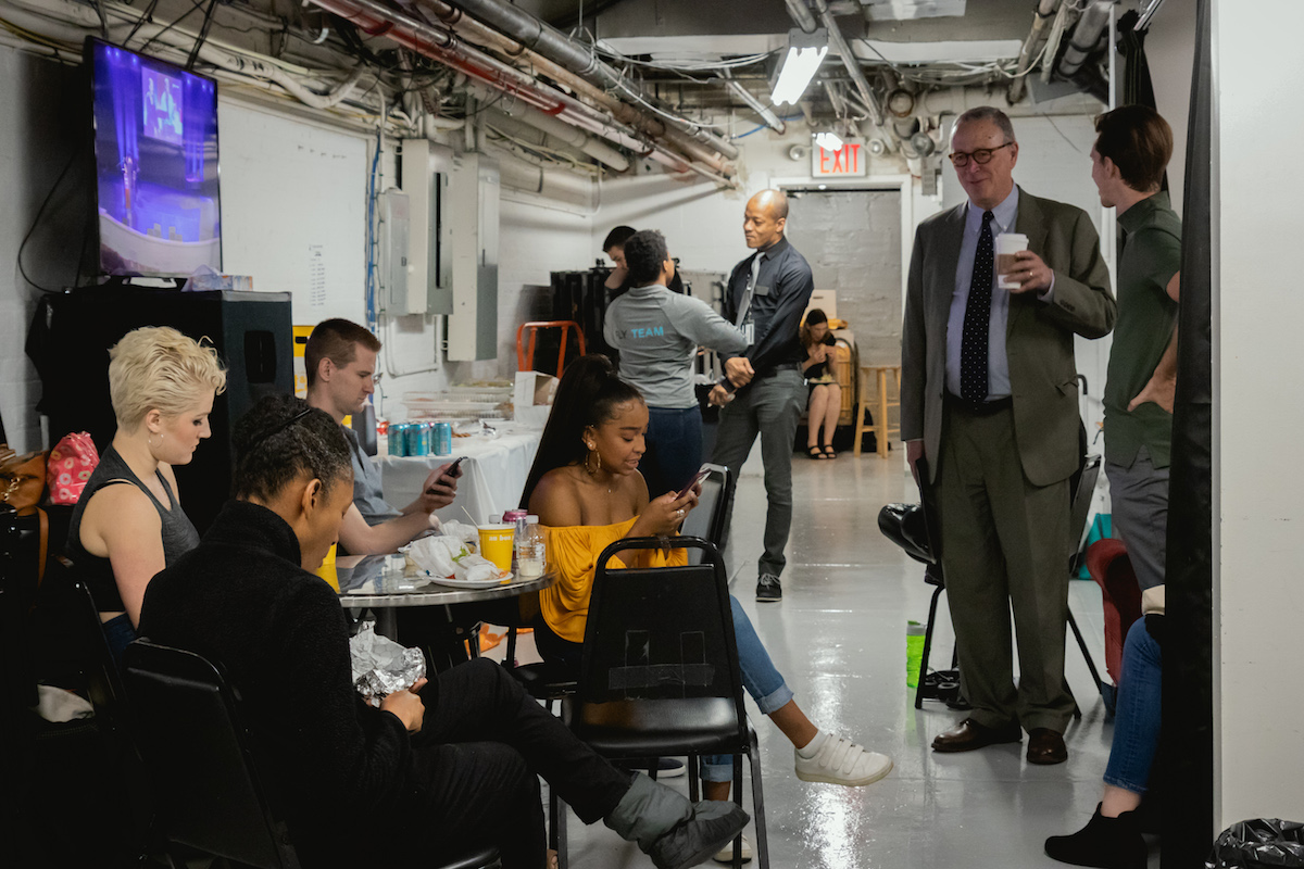 Backstage at Dean's Welcome 2018