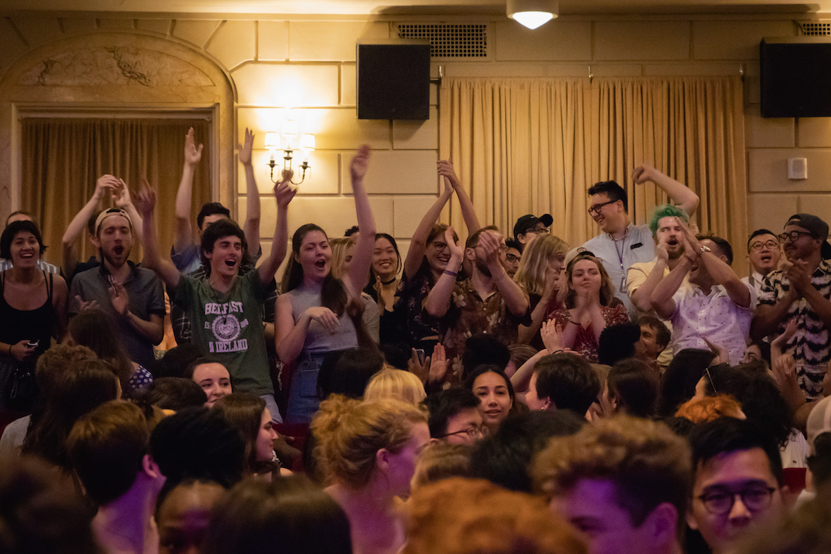 Students Cheer at Dean's Welcome 2018