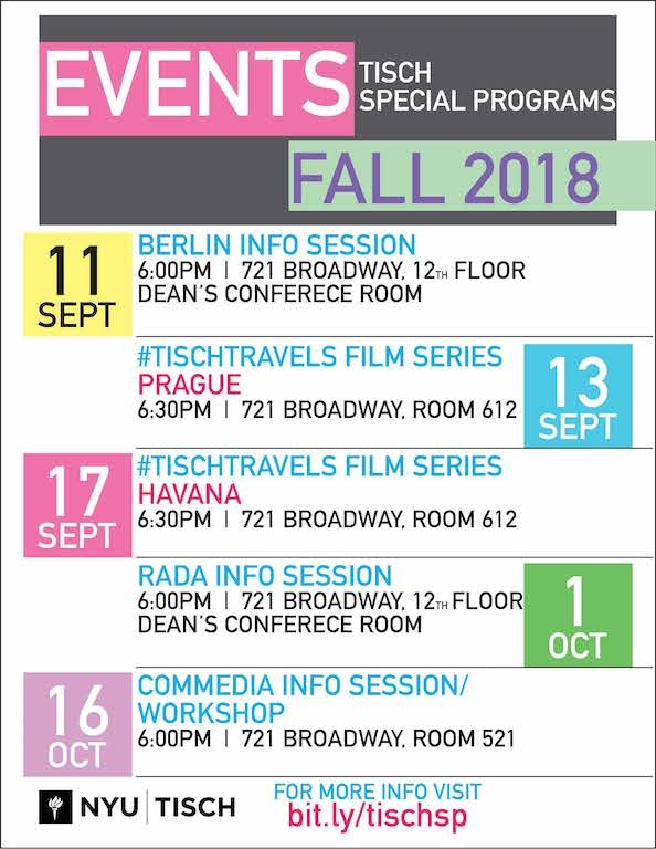 Fall 2018 events flyer