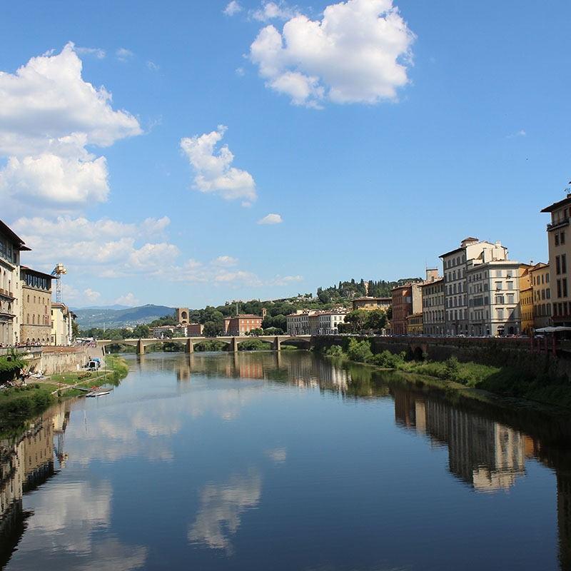 Photo of the Florence canals.